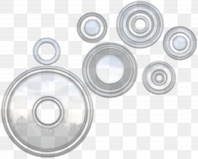 White Circle - Bearing Circle Wheel Rim PNG