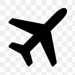 Plane - Airplane Font Awesome Clip Art PNG