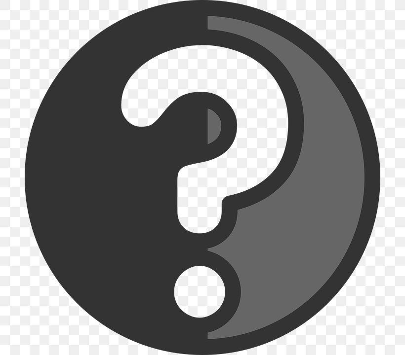 Question Mark Clip Art, PNG, 720x720px, Symbol, Black And White, Check Mark, Logo, Product Design Download Free