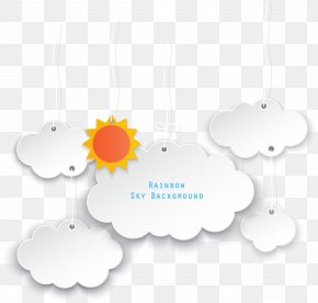 Vector Sun Clouds Dialog - Text Box PNG
