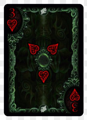 Hand-painted Bicycle - Call Of Cthulhu: The Card Game Bicycle Playing Cards PNG