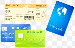 Credit Cards Ticket And Passport Clipart Image - United States Passport Royalty-free Clip Art PNG