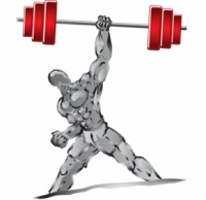 Barbell - Muscle Weight Training Dumbbell Clip Art PNG
