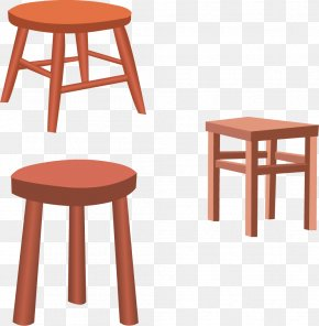 Vector Stool Chair - Table Chair Furniture Stool Euclidean Vector PNG