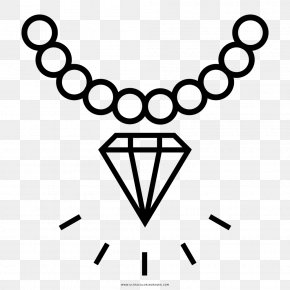 Jewellery - Earring Jewellery Necklace Diamond Coloring Book PNG