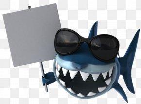 Placards Cartoon Shark - Shark Dentistry Toothbrush Illustration PNG