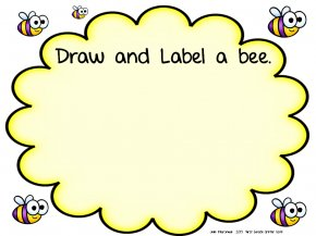 Fancy Text Box - Bumblebee Drawing Clip Art PNG