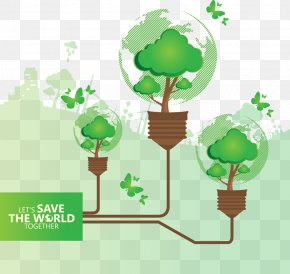 Vector Green Bulb - Environment Solar Energy Solar Power Ecology PNG