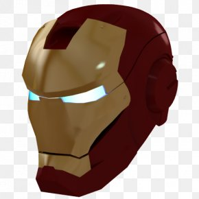 Ironman Mask 1 Gold - Head Neck Jaw Face PNG