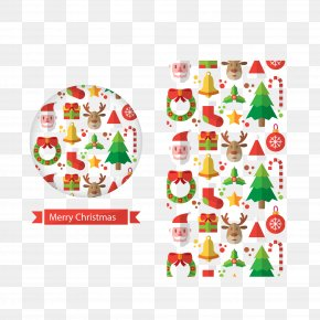 Greeting Decorative Elements - Christmas Greeting Card New Year's Day PNG