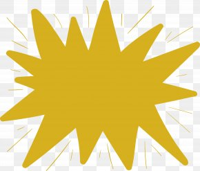 Yellow Glow Explosive Sticker - Leaf Yellow Star Pattern PNG