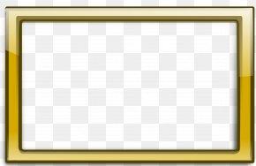 Gold Border Frame Transparent - Picture Frame Gold Clip Art PNG