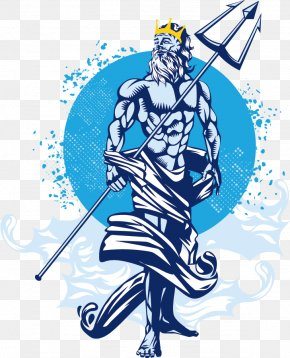 Vector Western God - Poseidon Of Melos Trident Neptune PNG