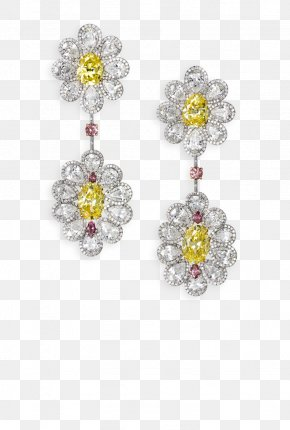 Yellow Diamond Flyer - Earring Jewellery Diamond Color Bitxi PNG
