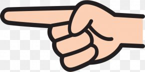 Hand - Index Point Index Finger Pointing Clip Art PNG