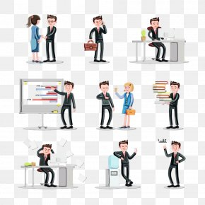 Formal Wear Businessperson - Facial Expression People Cartoon Standing Recruiter PNG