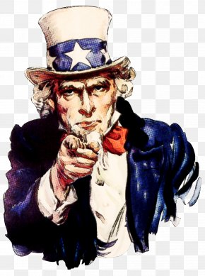 Uncle - Uncle Sam United States James Montgomery Flagg Poster Art PNG
