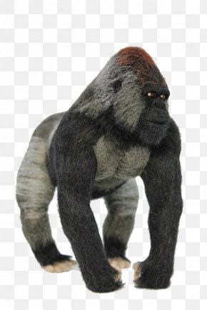 Black Gorilla - Merino Western Gorilla Felt Sewing Needle Wool PNG