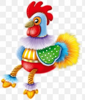 Cartoon Toy Cock - Rooster Chicken Toy PNG