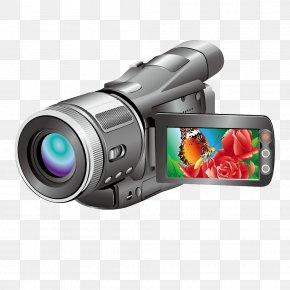 Horizontal Vector Handheld Camera Camera - Video Camera Digital Camera Icon PNG