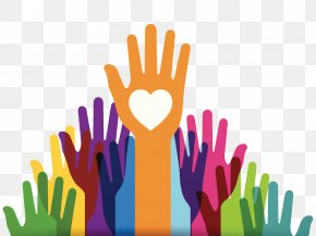 Raise Hands From People - Gift Donation Volunteering Foundation Christmas And Holiday Season PNG