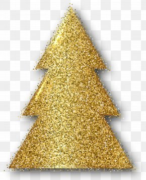 Gold Christmas Tree Clip Art Image - Christmas Day Christmas Ornament Christmas Tree Clip Art PNG