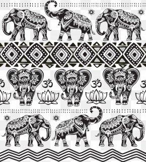 Indian Elephant Pattern Background Image - India Elephant PNG