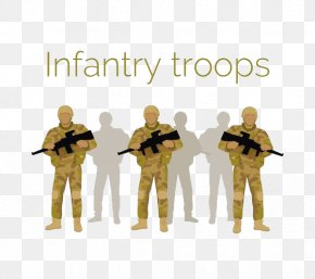 Three Soldiers With Guns - Infantry Soldier Airborne Forces Military PNG