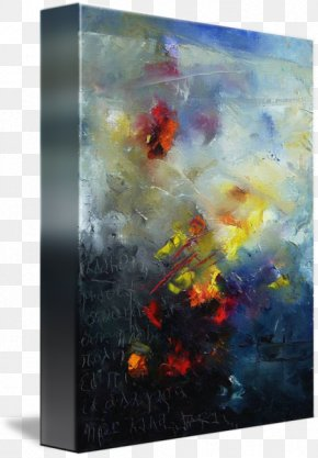 Abstract Art Painting - Watercolor Painting Abstract Art Gallery Wrap PNG