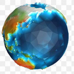 Low Poly - Earth Globe World Low Poly Planet PNG