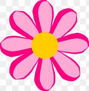 Cartoon Pink Flower - Flower Cartoon Drawing Clip Art PNG