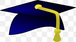 Dr. Cap Blue - Square Academic Cap Graduation Ceremony Hat Clip Art PNG
