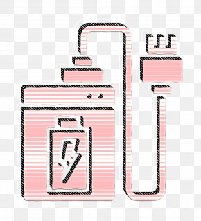 Pink Wireless Icon - Bank Icon Battery Icon Charger Icon PNG