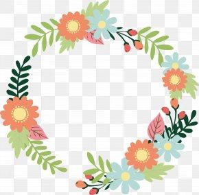 Romantic Color Flower Cane Title Box - Floral Design Flower Garland Download PNG