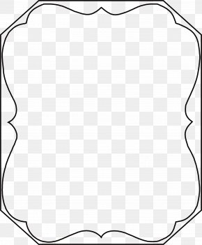 Lovely Black Frame - Black And White Point PNG