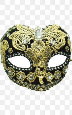 Carnival Mask - Mask Masquerade Ball Blindfold Costume Party Gold PNG
