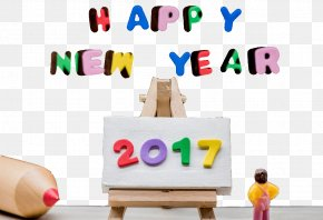 Creative Happy New Year - New Year Vecteur Stock Photography PNG