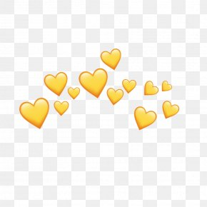 Heart Yellow Background - Image Heart PicsArt Photo Studio Video PNG