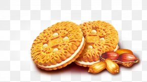 Biscuit - Tea Peanut Butter Cookie Waffle Junk Food PNG