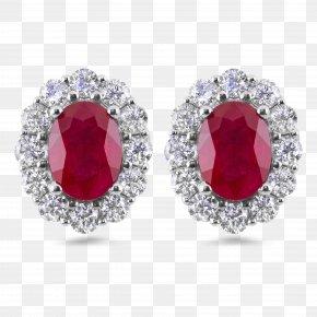 Earring - Earring Ruby Diamond Jewellery Gemstone PNG