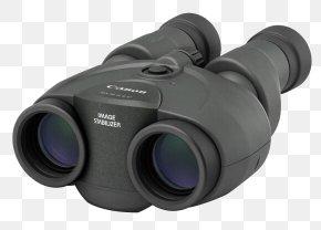 Binoculars - Image-stabilized Binoculars Canon IS II 10x30 Image Stabilization Canon IS 10x30 PNG