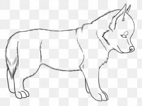 Puppy - Siberian Husky Puppy Mule Alaskan Husky Line Art PNG