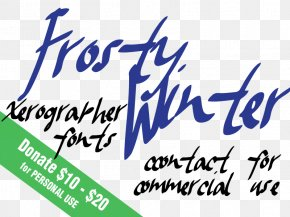Frosty - Handwriting Logo Typeface Sans-serif Font PNG