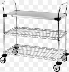 Stainless Steel Wire Shelving Serving Cart PNG