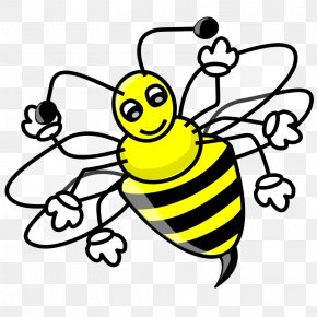 Yellow Bees Pull Material Free - Honey Bee Free Content Bumblebee Clip Art PNG