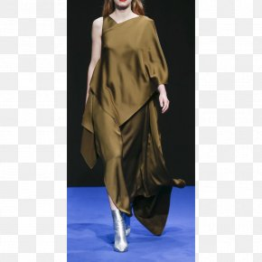 Silk Material - London Fashion Week 2017 Runway Model PNG
