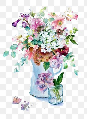 Watercolor Flowers - Orchids In Watercolour Watercolor Painting Flowers In The Landscape Art PNG
