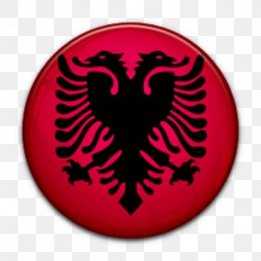 Flag - Flag Of Albania Albanian Double-headed Eagle PNG