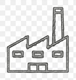 Line Art Metal - Factory Icon Ecology Icon PNG