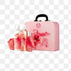 Rose Essential Oil Skin Care Set - Lotion The Body Shop Gift Perfume Skin Care PNG